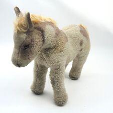 Vintage altes Steiff (?) Pferd Pony Fohlen 50er Jahre ca. 23 x 24 cm