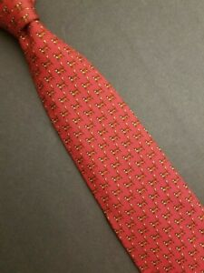 Classic Whimsical Brooks Brothers Makers Italian Silk Tie Red Fox/Dog Made USA