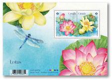 Canada 2018. Lotus Souvenir sheet 2 stamps Flowers MNH.