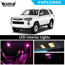 Pink LED Interior Lights Replacement Kit for 2003-2018 Toyota 4Runner 18 bulbs