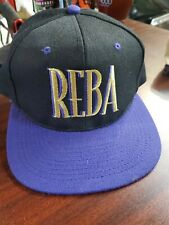 vtg REBA McEntire snapback HAT tour concert country 90s very clean
