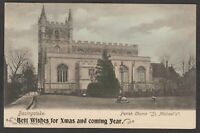 Postcard Basingstoke Hampshire the Parish Church St Michael's by Wrench 1903