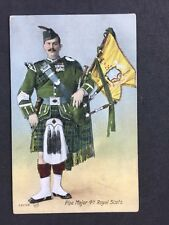Vintage PC: Military: #M364: Pipe Major 4th Royal Scots: Posted