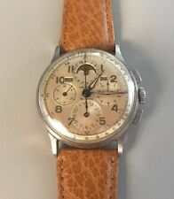Vintage Mens Universal Geneve Tri-Compax Moon Phase Chronograph Watch Runs Great