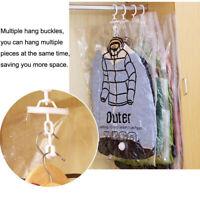 Side pull Hanging Transparent Vacuum Storage Bag Compression Bag Hook Clothes