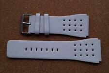 WHITE/ORANGE  NEXT WATCH STRAP 28MM BETWEEN LUGS 34MM OUTSIDE