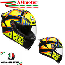 Helmet Agv K1 Top Soleluna 2015 Valentino Rossi Motorcycle Full Face Sz MS 57