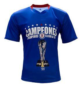 Cruz Azul Campeon Liga MX 2021 Fan Jersey Color Blue