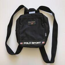 Vtg Ralph Lauren Polo Sport Black Small Backpack Mini Bag 90s
