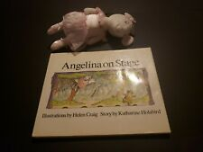"""ANGELINA BALLERINA DOLL With  BOOK """"Angelina on Stage"""" By Katherine Holabird 86"""
