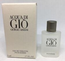 ACQUA DI GIO By GIORGIO ARMANI 5 ml / .17 oz POUR HOMME FOR MEN EAU DE TOILETTE