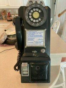 Antique Western Electric 3 coin slot pay phone
