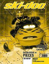 Ski-Doo parts manual catalog book 2000 MACH Z, MACH Z R & MACH Z R MILLENNIUM
