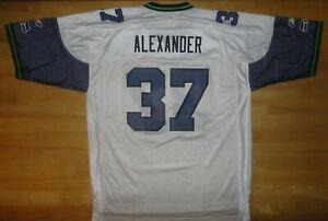 SHAUN ALEXANDER Reebok SEATTLE SEAHAWKS #37 White Jersey - Adult XL *NWOT*