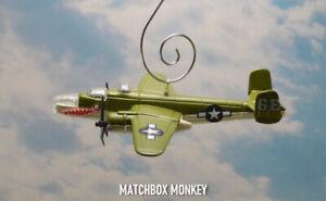 "B-25J Medium Bomber ""Shark Teeth"" WWII Christmas Tree Ornament Airplane USAF"