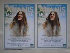 "ALANIS MORISSETTE ""Guardian Angel"" 2012 UK Arena Tour RARE Promo tour flyers x 2"