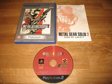 PS2 game - Metal Gear Solid 2 Sons of Liberty (complete PAL)
