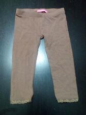 Pantalón legging malla color marrón talla 12 a 18 meses - 86 cms.