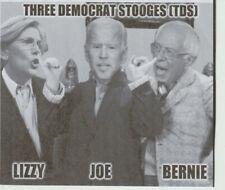 2021 T-D-S Three Democrats Stooges Political Sticker Size 6 X 5 Inches Pro Trump