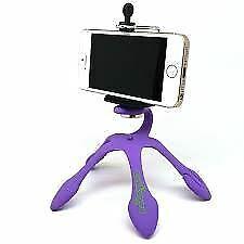 Purple GekkoPod Flexible Tripod Gorilla Mount Holder for Smartphones