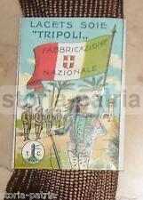 MILITARIA_AFRICA_SOLDATI ITALIANI_BERSAGLIERE_TRICOLORE CON STEMMA SABAUDO_SETA