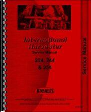 Ih International 244 254 234 Tractor Service Shop Manual Diesel Compact