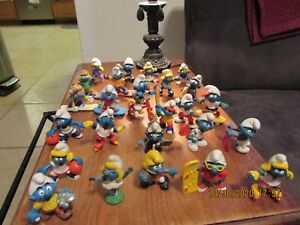 Lot of 26 Sport Smurfs New and Vintage Pvc Figures