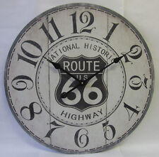 60cm Rustic Country Wall Clock US National Historic Route 66 Highway Numbers