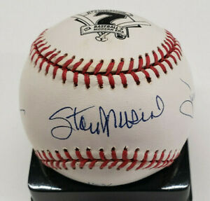 7 Time Batting Champs Autograph Ball Stan Musial Tony Gwynn Rod Carew #d163/500