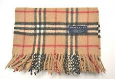 BURBERRY Authentic Scarf Lambswool Nova Check Beige Good Used Condition