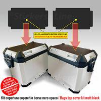Kit adesivi COPERCHIO SUPERIORE borse valigie BMW R1200GS ADV bags stickers BLCK