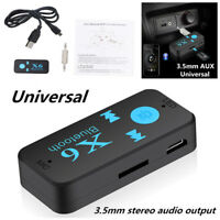 Mini Wireless Bluetooth 3.5mm AUX Audio Stereo Music Car SUV Receiver Adapter TS