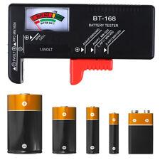 Neu Lcd Battery Tester Volt Checker For 9V 1.5V Aa Aaa Cell Bt-168D Useful-Hv