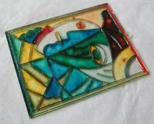 Plastic Stained Glass Effect Cubist Face