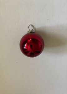 Pottery Barn Ornament Glass 3 inch RED