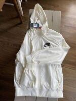 NWT Nike Womens WindRunner White Rain Jacket Size Med Regular Price $100
