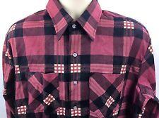 Vtg Lumberjack Plaid Shirt Sz Xl 17-17.5 Red 100% Cotton Preshrunk Work C45