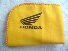 HONDA MOTORCYCLE: NEW LARGE HIGH QUALITY CLEANING DUSTER CLOTH WITH LOGO DECAL.