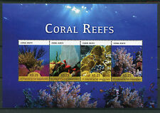 St Vincent & The Grenadines 2015 MNH Coral Reefs 4v M/S II Corals Marine Stamps