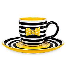 DISNEY STORE MINNIE MOUSE Signature MUG & SAUCER SET Coffee Tea CUP
