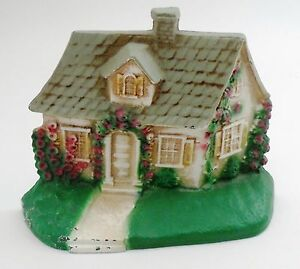 John Wright Cast Iron Country Cottage Home Hollyhock Flowers Doorstop Door Stop