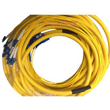 20 M LC-SC UPC SM 12 Strand 9/125 Indoor Fiber Optical Patch Cord Cable DHL Free