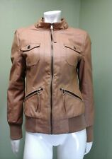 MISS POSH Faux Leather Chestnut Brown Bomber~Size M/M
