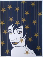 Brian Ewing Poster Counting Stars 2007 Art Print Artist Proof Blue