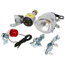 Bicycle Motorized Bike Friction generator Dynamo Head Tail Light +Acessories New