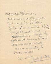Jules LEFEBVRE jeune modèle recommandation lettre autographe signée
