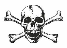 1x skull sticker Motorcycle Gas Tank car bumper decal23