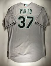 2eda31c7037 Renyel Pinto Florida Marlins 2010 Game Worn Used Jersey Size 50