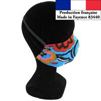 Masque protection Art design à la mode réutilisable barrière AFNOR