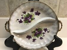Sweet Violets by Norcrest 2-Part Divided Dish